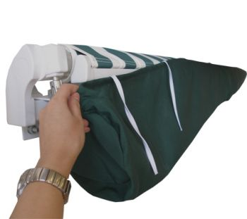 2m Plain Green Protective Awning Rain Cover / Storage Bag